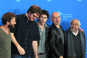 Thomas Kretschmann - Thomas Kretschmann (far left) at a press conference for the Film Transsiberian, 2008