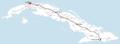 Tren Francés (Cuba) route map.png