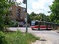 Trojská, Nad Trojou, přejezd a tramvaj.jpg