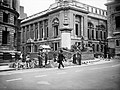 Troops from the Grenadier Guards constructing sandbag defences around government buildings on the corner of Horse Guards Road, Great George Street and Birdcage Walk, London, May 1940. H1588.jpg