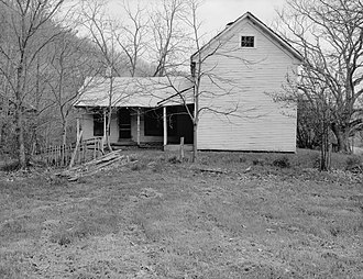National Register of Historic Places listings in Summers County, West Virginia - Image: Trump Lilly Farmhouse