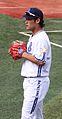 Tsutsugo Yoshitomo, infielder of the Yokohama BayStars, at Yokohama Stadium.jpg