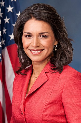 Politics of Hawaii - Image: Tulsi Gabbard, official portrait, 113th Congress (cropped)