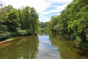 Tunkhannock Creek (Susquehanna River tributary) - Tunkhannock Creek looking downstream near Nicholson