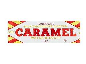 Tunnock's - A milk chocolate Tunnock's Caramel Wafer