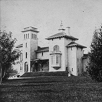 "Alexander Jackson Davis - Davis's Italianate villa ""Winyah Park"" in New Rochelle, New York"