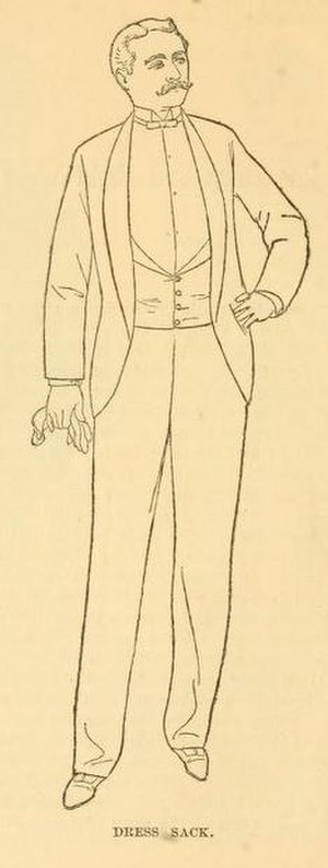 Tuxedo - 1888 American tuxedo / dinner jacket, sometimes called a dress sack.