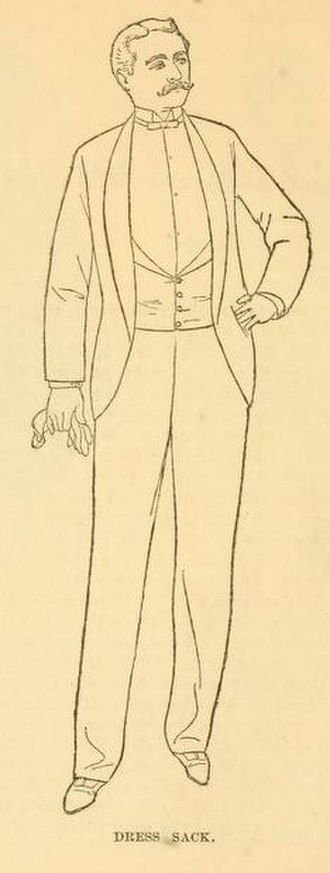 Black tie - 1888 American tuxedo / dinner jacket, sometimes called a dress sack.