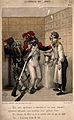 Two drunken soldiers ask an apothecary for some 'eau de vie' Wellcome V0011803.jpg