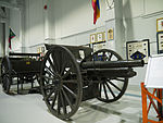 Type 38 75 mm field gun Base Borden Military Museum.jpg
