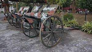Type 41 75 mm mountain gun - Type 41 Mountain guns display in Surasakmontree Army Camp, Lampang, Thailand, 2016
