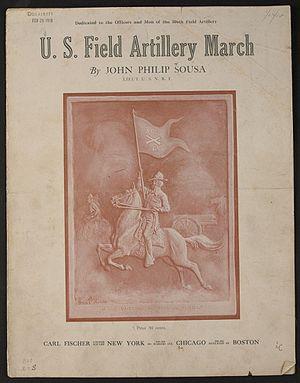 "U.S. Field Artillery March - Sheet music cover for the song ""U.S. Field Artillery March"" by Sousa."