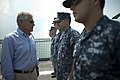 U.S. Secretary of Defense Chuck Hagel visits with sailors on board the USS Freedom (LCS 1) in Singapore, June 2, 2013 130602-D-BW835-661.jpg