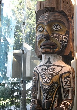 UBC MOA First Nations wood statue carving