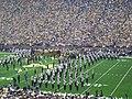 UConn vs. Michigan 2010 09 (Michigan Marching Band and Go Blue banner).JPG