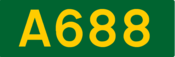 A688 road shield