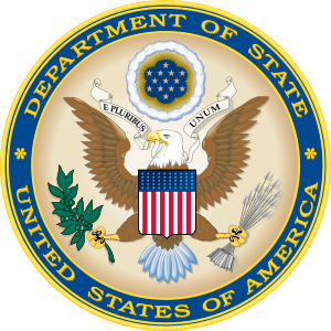 Seal of the United States Department of State....