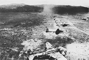 Battle of Hollandia - Hollandia airfield after raids by 5th Air Force