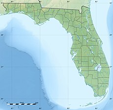Map showing the location of Cape Canaveral