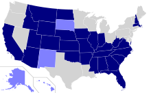 States where English is the official language