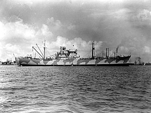 USS Alchiba (AKA-6) - Alchiba circa in early 1942.