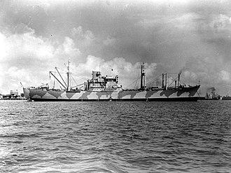 USS Alchiba (AKA-6) - Alchiba circa in early 1942.