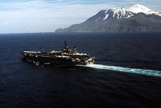 USS Constellation (CV-64) - Constellation near the Aleutian Islands during PACEX '89.