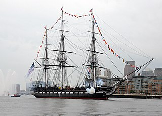 USS <i>Constitution</i> 1797 heavy frigate of the United States Navy, oldest commissioned naval vessel afloat