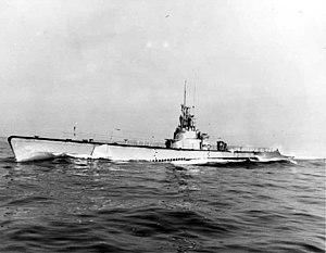 USS Croaker - Croaker (SS-246), underway, c. 1944–45.