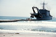 USS San Bernardino (LST-1189) during landing exercise in 1979