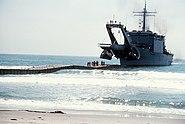USS San Bernardino (LST-1189) during landing exercise in 1979