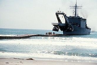 USS San Bernardino (LST-1189) - USS San Bernardino during a landing exercise in 1979.