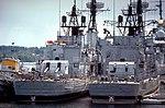 USS Southerland (DD-743) and Hollister (DD-788) at Puget Sound 1981.JPEG