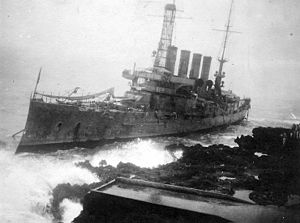 Edward L. Beach Sr. - The wreck of USS Memphis.