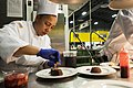 US Army Reserve Culinary Arts Team serves three-course meal to guest diners 160310-A-XN107-164.jpg