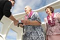 US Navy 031207-N-3228G-029 Pearl Harbor survivor John Latko shakes hands with other guests.jpg