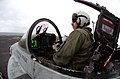 US Navy 040406-N-6213R-338 Lt. Cmdr. James Logsdon, of Roanoke Rapids, N.C., straps into the cockpit of an F-A-18C Hornet.jpg