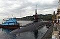 US Navy 041020-N-6497N-044 The Ohio-class fleet ballistic missile submarine USS Nebraska (SSBN 739) arrived at her new home port of Naval Base Kitsap-Bangor, Wash.jpg