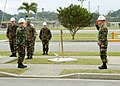 US Navy 051214-N-3560G-006 Commanding Officer, Naval Mobile Construction Battalion Four (NMCB-4), Cmdr. John Korka, right, assumes command of Camp Shields on the island of Okinawa, Japan.jpg