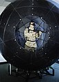 US Navy 060329-N-7676W-009 VirtuSphere, located at the Naval Research Laboratory (NRL), is a nine-foot plastic ball that sits on wheels enabling unlimited rotation in any direction.jpg