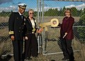 US Navy 061110-N-6247M-009 Capt. Syd Abernethy, commanding officer Naval Air Station Whidbey Island, Martha Rose, executive director Island Transit and Pat Powell, executive director Whidbey Camano Island Trust.jpg