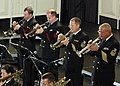 US Navy 061221-N-0773H-048 The trumpet section of the U.S. Navy Band Commodores jazz ensemble perform during an evening concert at the Midwest Band and Orchestra Conference.jpg