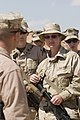 US Navy 070327-M-9876R-014 U.S. Marine Corps Master Sgt. Timothy Swanson, left, commander of 2nd Platoon, Explosive Ordinance Disposal Unit, 2nd Marine Logistics Group, instructs Marines and Sailors attending the Lioness Progra.jpg