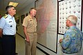 US Navy 070523-N-6544L-005 Voice of America (VOA) Station Manager Henry Briley gives a tour of the VOA relay station in Sao Tome to Vice Adm. John Stufflebeem.jpg