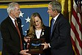 US Navy 071022-N-5319A-020 President George W. Bush presents the Medal of Honor to Daniel and Maureen Murphy, the parents of Navy SEAL Lt. Michael Murphy, during a ceremony at the White House.jpg