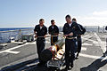 US Navy 090505-N-4124C-001 Sailors aboard the guided-missile destroyer USS Forrest Sherman (DDG 98) handle a REXTORP for use during a live-fire anti-subsurface warfare exercise.jpg