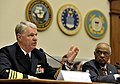 US Navy 090514-N-8273J-059 Chief of Naval Operations (CNO) Adm. Gary Roughead, Acting Secretary of the Navy the Honorable BJ Penn and Commandant of the Marine Corps Gen. James T. Conway appear before the House Armed Services Co.jpg