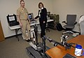 US Navy 090528-N-7676W-062 Master Chief Steve French and Laura Smith operate a Talon EOD robot during an Office of Naval Research Technical Solutions demonstration of the recently completed battery replacement project.jpg