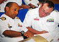 US Navy 100607-N-0995C-025 Cmdr. Steve Prescott, right, commanding officer of the guided-missile frigate USS Vandegrift (FFG 48).jpg