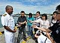 US Navy 100706-N-7643B-092 Capt. Richard Clemmons, commodore of Task Force 73.1, speaks to Singaporean media.jpg